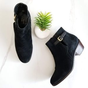 Cole Haan GRAND.OS Willette Ankle Boot Black Suede